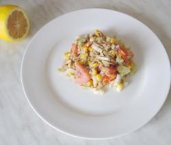 Kininių kopūstų salotos su tunu